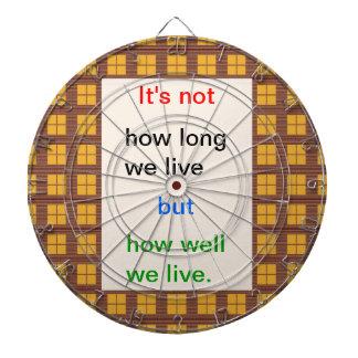 Selbstbeobachtungs-Klugheit: Wie gut lebten wir?? Dartscheibe