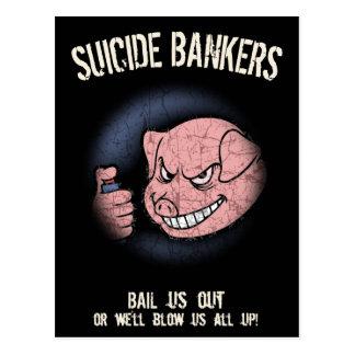 Selbstmord-Banker Postkarten