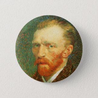 Selbstporträt durch Vincent van Gogh Runder Button 5,1 Cm