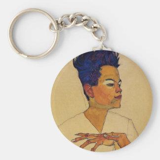 Selbstporträt Egon Schiele Schlüsselanhänger