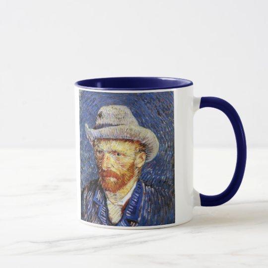 Selbstporträt mit grauem geglaubtem Hut, Vincent Tasse