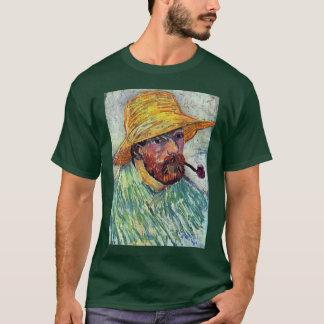 Selbstporträt mit Strohhut durch Vincent van Gogh T-Shirt