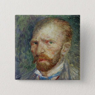 Selbstporträt Vincent van Goghs  , 1887 Quadratischer Button 5,1 Cm