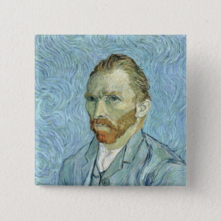 Selbstporträt Vincent van Goghs |, 1889 Quadratischer Button 5,1 Cm
