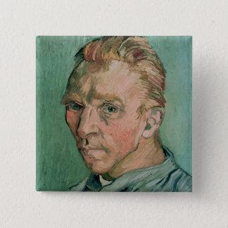 Selbstporträt Vincent van Goghs  , 1889 Quadratischer Button 5,1 Cm
