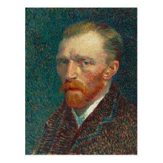 Selbstporträt von Vincent van Gogh (1887) Postkarte