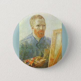 Selbstporträt vor Gestell, Vincent van Gogh Runder Button 5,7 Cm