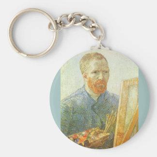 Selbstporträt vor Gestell, Vincent van Gogh Schlüsselanhänger