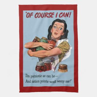 Selbstverständlich kann ich Vintages Kriegs-Plakat Handtuch