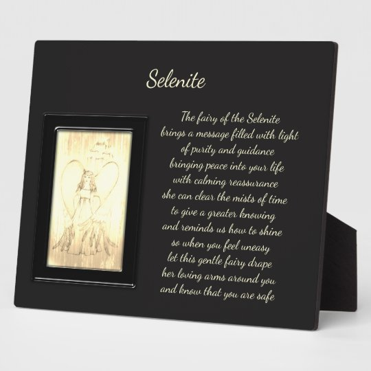 Selenit-Kristall-Fee Fotoplatte