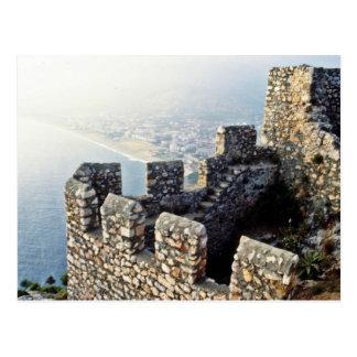 Seljuk Ramparts, Alanya - 1221 A.D. Postkarte