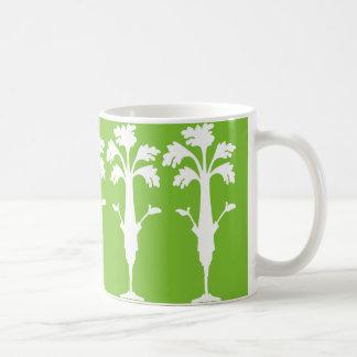 Sellerie-Charles-Logo 11-Unze-klassischer grüner Kaffeetasse