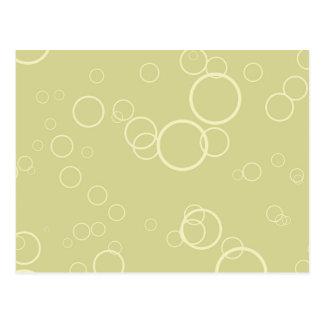Sellerie-grüne Kreis-Blasen Postkarte
