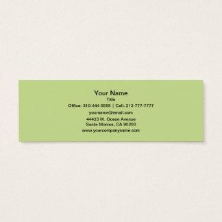 Sellerie-grüner Normallack Mini Visitenkarte