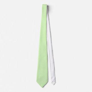 Sellerie-grünes und weißes Tupfen-Muster Personalisierte Krawatten