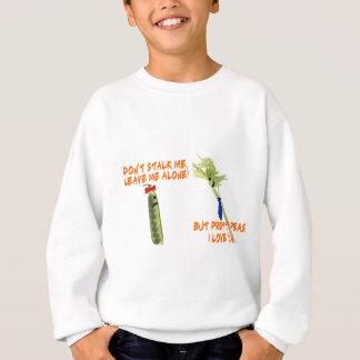 Sellerie-Stiel und hübsche Erbsen Sweatshirt