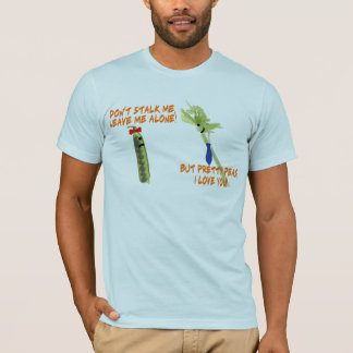 Sellerie-Stiel und hübsches Erbsen-T-Shirt T-Shirt
