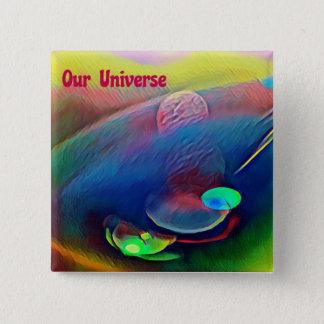 Seltener heller Regenbogen unser Universum Quadratischer Button 5,1 Cm