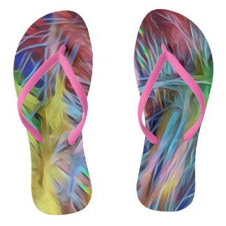 Seltener LGBT Regenbogen-künstlerische Stränge Flip Flops