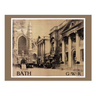Seltenes Bad-Vintages Reise-Plakat wieder Postkarte