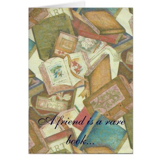 Seltenes Buch-Freundschaftsanmerkungskarte Karte