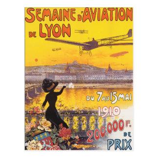 Semaine d'Aviation De Lyon Postkarte