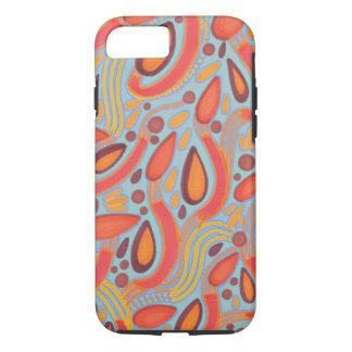 Semant les graines oranges et la caisse bleue de coque iPhone 7