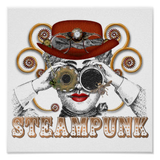 sembler l art steampunked de collage de steampunk posters