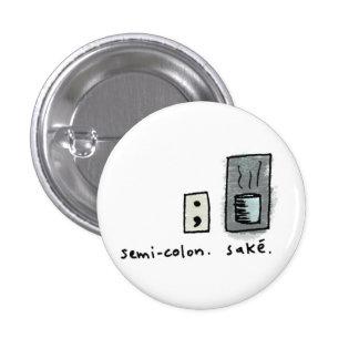 Semikolon + Grund Runder Button 3,2 Cm