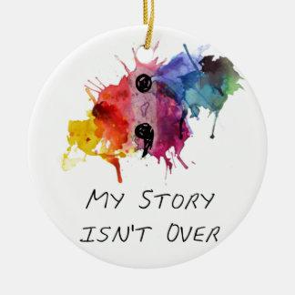 Semikolon meine Geschichte ist nicht vorbei Keramik Ornament