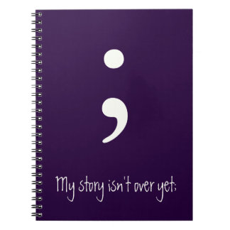 Semikolon/meine Geschichte ist nicht vorbei noch; Notizbücher