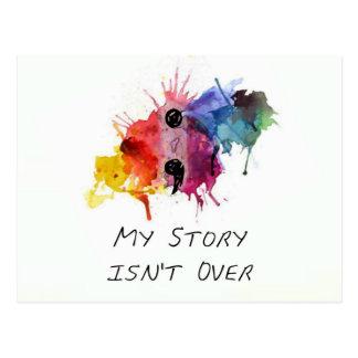 Semikolon meine Geschichte ist nicht vorbei Postkarte