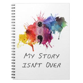 Semikolon meine Geschichte ist nicht vorbei Spiral Notizblock