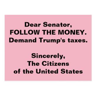 Senator Follow der Trumpf-Geld-Russland-Widerstand Postkarte