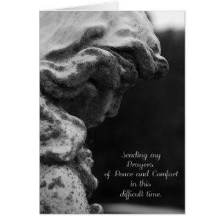 Senden von Gebeten des Friedens und des Komforts Grußkarte