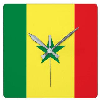Senegal Quadratische Wanduhr