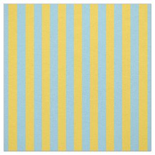 Senf-gelber hellblauer Streifen Stoff