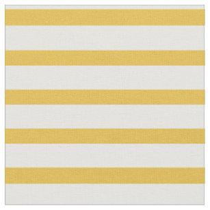 Senf-gelbes und weißes Streifen-Gewebe Stoff