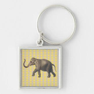 Senf-Gewürz-Stimmungs-Punkte mit Elefanten Schlüsselanhänger