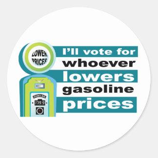 Senken Sie Gaspreise Runder Aufkleber