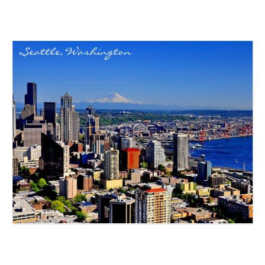 Sensationelle Seattle-Skyline Postkarte