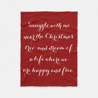 Sentimentales Weihnachtsgedicht Fleecedecke