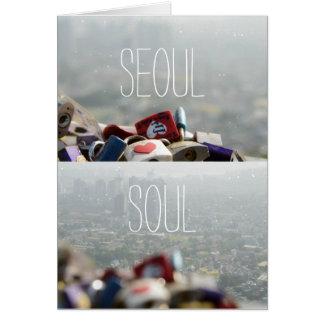 Seoul-Liebe-Verschlüsse Karte