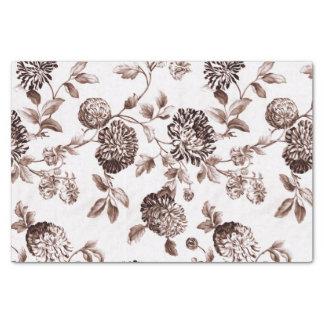 Sepia Brown Vintages BlumenToile No.2 Seidenpapier