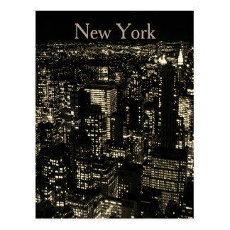 Sepia-New- York CitynachtSkyline Postkarten