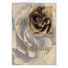 Sepia-Rosen-glücklicher 100. Geburtstag Karte