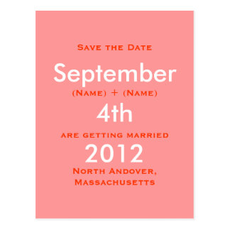 September 2011 4. Save the Date Katie   Ro… Postkarte