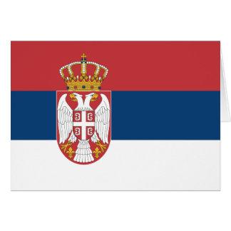 Serbien-Flagge Karte