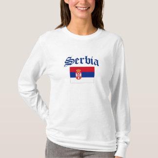 Serbien-Flagge T-Shirt