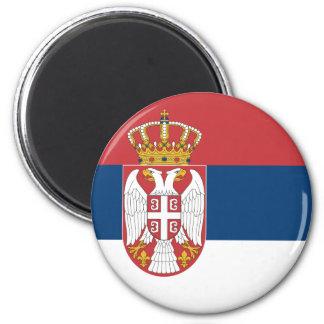Serbien-Flaggen-Magnet Runder Magnet 5,7 Cm